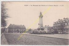 CPA 14000 CAEN Monument des Mobiles & la Caserne Hamelin Edit L.D.