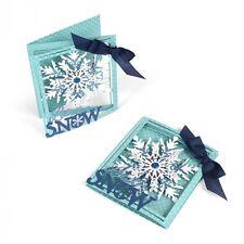 Sizzix Thinlits Die Taglio Stencil sbalzo Tri-Fold CARD Snowflake 661555