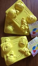 Set of 4 Jello Jiggler Easter Molds Shooters Jell-O Shots Bunnies Chicks Rabbit
