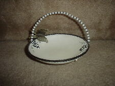 BLACK & WHITE RESIN? (FLORAL & BUTTERFLY) TRINKET-CANDY DISH/ TRAY/ BASKET/ BOWL