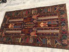 Stunning Pictorial Tribal Carpet,Beautiful Shikar Gha Afghanistan Carpet