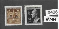 MNH stamp set / HEYDRICH & Imperial Eagle & Symbol / WWII Germany / Third Reich