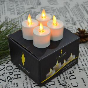 Luminara Flameless Tea Lights LED Votive Candles Timer Battery Included Ivory 4
