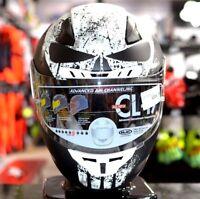 ALL NEW HJC CL-17 Marvel PUNISHER MC-5 WHT/BLACK Street Motorcycle Riding Helmet