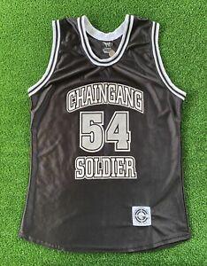 Vintage 2004 WWE John Cena Basketball Jersey Chaingang Soldier Chain Gang Men M
