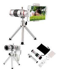 Zoom óptico 18x HD telescopio lente de la camara para telefono movil universal