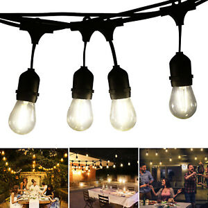49 Festoon Light Outdoor Lighting Garden String Main Heavy Duty Rustic Edison UK
