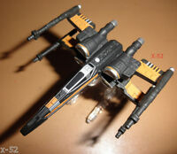 POE's BLACK X-WING fighter HOT WHEELS vehicle STAR WARS ship FORCE AWAKENS toy
