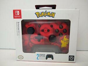 PowerA Pokemon Enhanced Wireless Controller Nintendo Switch Pikachu Red New
