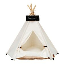 Pet Tent House Cat Bed Portable Teepee With Good Cushion For Dog Puppy Excursion