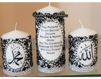 Henna candles/personalised gifts/islamic  candles/Wedding candle/hajj gifts
