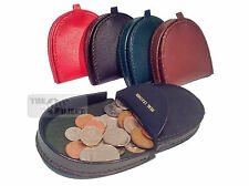 Medium Real Leather Coin Tray Purse Wallet Gents Change Men Pocket Money Horse