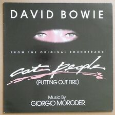 "David Bowie - Cat People Putting Out Fire 12"" Single 45 RPM Vinyl Record, VG"