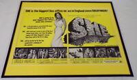 1965 SHE / Ursula Andress 16x20 Framed ORIGINAL Industry Advertisement