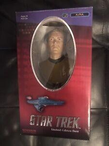 Star Trek Captain Kirk William Shatner Bust 18cm Ltd 5000 Sideshow NM Unopened
