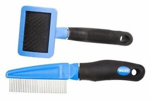 Wahl Cat Flea Comb and Slicker Grooming Brush Set
