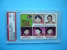 1975/76 O-PEE-CHEE NHL HOCKEY CARD #317 STAN MIKITA JIM PAPPIN LDRS PSA 7 NM OPC
