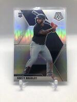 2020 Panini Mosaic Baseball Bobby Bradley Silver Prizm Rookie #50