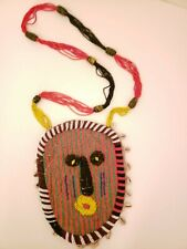 Antique Beaded Ceremonial African Mask with Cowrie Shells
