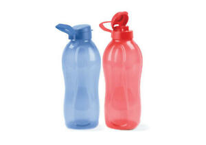 New TUPPERWARE Eco Water Drink Fridge Bottle 2L New Colours Blue or Red