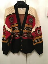 Rare Vintage Kansai O2 Yamamoto Mens Buttons Knit Sweater Made in Japan 80s Wool