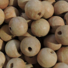 22mm Macrame Large 5mm Hole Round Rustic Rose Wood Beads You Design Them