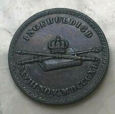 1840 Netherlands Willem II Copper Token Medal