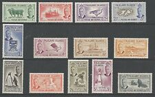 FALKLAND IS SG172-84 THE 1952 GVI SET OF 13 TO 10/-  MOUNTED MINT CAT £159