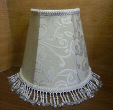 Wall Sconce Half Shade Beautifully Designed Fabric w/ Satin Highlights & Tassles
