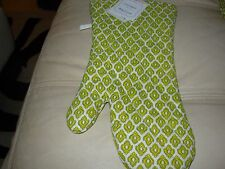 APRIL CORNELL QUILTED OVENMITT FRENCH COUNTRY FLORAL YELLOW MEDALLION COTTON NWT