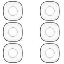 "LAV 6tlg. Unterteller-Set aus hochwertigem Glas Untertasse Cay Tabagi""Serie ZEN"""