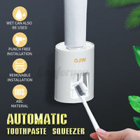 Home Automatic Toothpaste Dispenser Toothbrush Holder Wall Mounted Bathroom