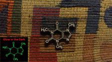 10 Pack of Glow in the Dark Caffeine Molecule Enamel Lapel Hat Pin Lot