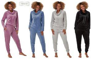 Ladies Soft Touch Velour Pyjamas Pajama Pjs  Set Christmas Gift Idea