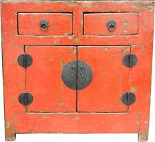 Red Antique Chinese Cabinet- Beautiful Patina (74-B01)