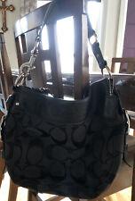 Coach Zoe Shoulder Bag Black/Gray #12657