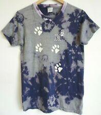 Vtg 80s Penn State Psu Surf Skate Distressed Tie Dye 50/50 Blue Gray T Shirt S/M