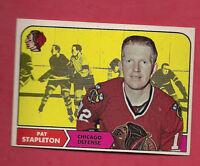 1968-69 TOPPS # 15 CHICAGO HAWKS PAT STAPLETON EX-MT CARD