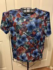 Women's Clothing Blair Floral Print Blouse Shirt Top Size L