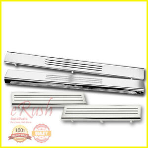 FOR 2009-2017 DODGE RAM CREW CAB SCUFF PLATE DOOR SILL SILLS STAINLESS STEEL 4PS