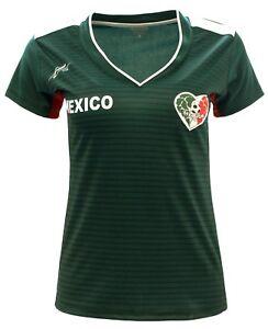 Women Mexico Fan Jersey Exclusive Design 2018 Color Green