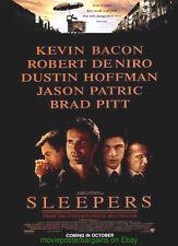 SLEEPERS MOVIE POSTER Original DS 27x40 BRAD PITT & ROBERT DE NIRO !!!!