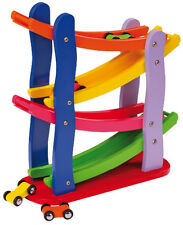 New Wooden Toys Click Clack Race track, Car Run, Marble Run, Track Run