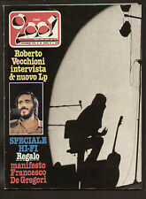 CIAO 2001 48/79 ROCK PUNK PROG MAGAZINE POSTER DE GREGORI AREA DRACULA STREISAND