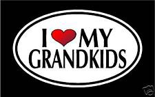 "5.75"" I LOVE MY GRANDKIDS vinyl decal sticker.. grandchild"