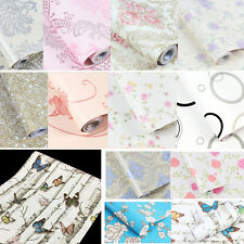 Retro Floral Embossed Contact Paper Water Proof Wallpaper Self Adhesive 0.45x10m
