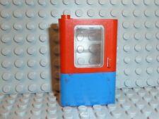 LEGO ® ferrovia 1x porta a sinistra 4181 Blu Rosso con Vetro 7818 7715 f408