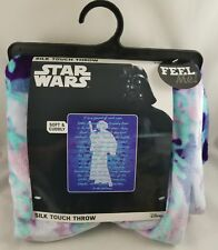 New Disney Star Wars Princess Leia Throw Blanket Title Crawl Episode IV New Hope