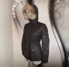 NWT MATCHLESS WATERPROOF WOOL LINED Coyote FUR TRIM FITTED PARKA COAT JACKET S