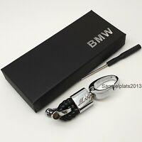 BMW Metal Leather M Tech Power Performance High Quality Keyring Key Fob Chain